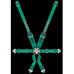 TAKATA Race 6 HANS - 6pt snap-on (HANS use only) - (Green)
