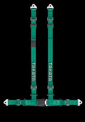 TAKATA Drift II snap - 4pt snap-on (buckle on right lap belt) - (Green)