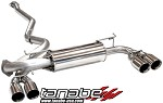 Tanabe Medallion Touring Cat Quad Tips Back Exhaust - 2008-2009 Subaru Impreza WRX STi