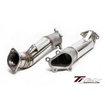 TITEK Front Turbo Outlet Pipes (90mm Cast Belmouth Stainless Steel) - 2009-11 NISSAN GTR