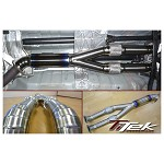 TITEK Titanium Mid-Pipe Street Resonated (76mm x2 to 90mm x1)(Flex x2) - 2009-11 NISSAN GTR