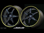 Buddy Club P1 Racing SF Challenge 16X7.0 ET42 5X114.3 Matt Black w/Yellow