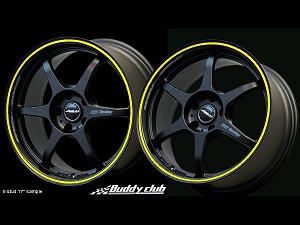 Buddy Club P1 Racing SF Challenge 16X7.0 ET42 4X100 Matt Black w/Yellow