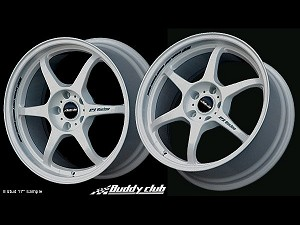 Buddy Club P1 Racing SF 18X7.5 ET42 5X114.3 White