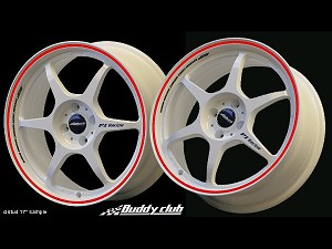 Buddy Club P1 Racing SF Challenge 16X7.0 ET42 5X114.3 White w/Red