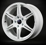 Buddy Club F91 Kuroki 17X7.5 ET42 5X114 Champion White