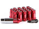 ZERG LUG NUTS 1.25 7 SIDED EXTENDED WITH CAP AND KEY RED