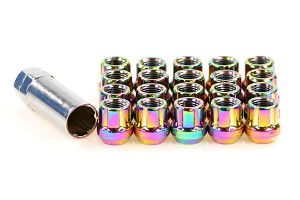 ZERG LUG NUTS 1.50 (SHORT OPEN ENDED) NEO CHROME