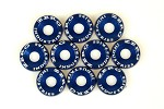 ZERG FENDER WASHER KIT 10 PIECES BLUE
