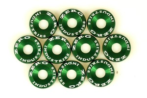 ZERG FENDER WASHER KIT 10 PIECES GREEN