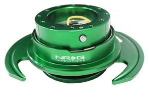 NRG Innovations Quick Release GEN 3.0 Green Body/Green Ring w/ Handles