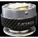 NRG Innovations - Quick Release Gen 1.0 (Silver Body w/ Carbon Fiber Ring)