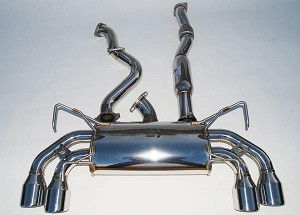 INVIDIA Q300 ROLLED STAINLESS STEEL TIP CAT-BACK EXHAUST - 2008-UP SUBARU IMPREZA STI 4 DOORS