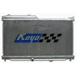 KOYO ALUMINUM RACING RADIATOR -1989-92 MAZDA RX-7 LATE FC CHASSIS NA & TURBO N-FLO (Dual Pass) MT