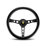 MOMO Steering Wheel - Prototipo - Black Leather Black Spoke 350mm