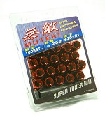 MUTEKI LUG NUTS 12X1.25 - RED OPEN