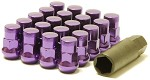 MUTEKI SR35 LUG NUTS CLOSED END 16+4 (LOCKS INCLUDED) 12X1.50 - PURPLE 35MM