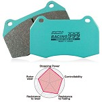 Project Mu Racing: Racing 999 - 2004-12 Subaru WRX STi (Front Brake Pads)