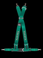 TAKATA Drift III bolt - 4pt bolt-on (buckle on right lap belt) - (Green)