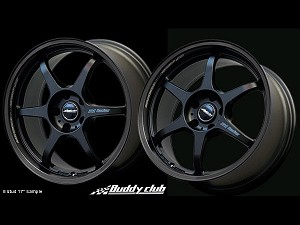 Buddy Club P1 Racing SF 17X7.0 ET42 5X114.3 Matt Black