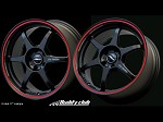 Buddy Club P1 Racing SF Challenge 15X6.5 ET35 4X100 Matt Black w/Red