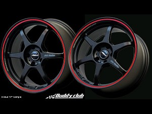 Buddy Club P1 Racing SF Challenge 15X7.0 ET40 5X114 BK/Red