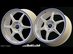 Buddy Club P1 Racing SF Challenge 17X7.0 ET42 5X114.3 White w/Blue