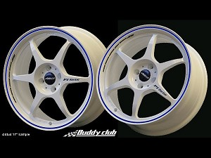 Buddy Club P1 Racing SF Challenge 18X7.5 ET42 5X114.3 White w/Blue