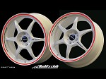 Buddy Club P1 Racing SF Challenge 15X6.5 ET35 4X100 White w/Red