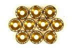 ZERG FENDER WASHER KIT 10 PIECES GOLD
