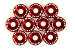 ZERG FENDER WASHER KIT 10 PIECES RED